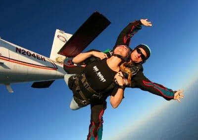paracadutismo lanci con paracadute tandem